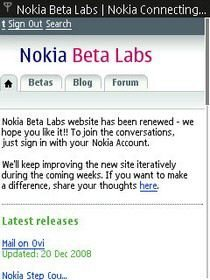 Nokia Beta Labs Optimise Website for Mobile