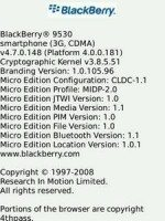 BlackBerry Storm 9530 Unofficial OS 4.7.0.148