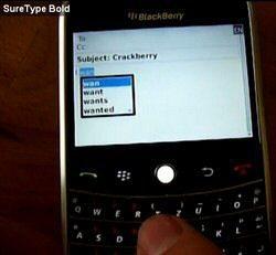 BlackBerry OS 5.0 to get SureType
