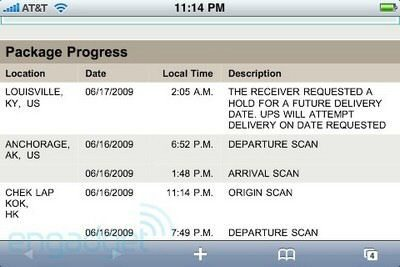 Apple tells UPS no shipping iPhone 3G S before we say so