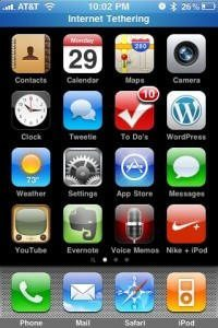 How easy is it to turn on iPhone tethering?