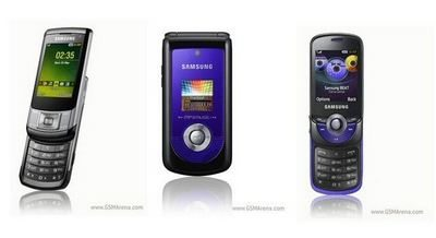 Samsung S6700, C5510, M2510 and M2310 are introduced
