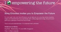 Sony Ericsson Special Event Starts Tomorrow