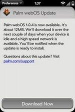 Palm Pre WebOS 1.0.4 Firmware Update Released: Homebrew apps
