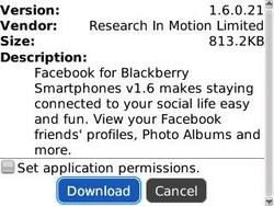Facebook v1.6.0.21 released by RIM: Many Fixes included