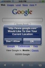 iPhone 3.0 News: Google search from Safari adds Geo Location