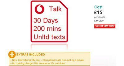 International Super SIM plan launched by Vodafone UK