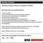 Verizon release official BlackBerry Desktop manager 5.0.0.8