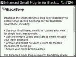 BlackBerry Smartphones gain Enhanced Gmail Plug-in