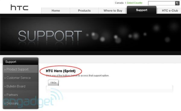 More information on HTC Hero with Sprint