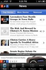 NPR News iPhone App: Full-text coverage along with audio