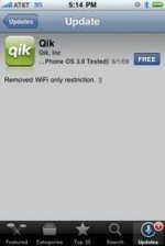 Qik for iPhone updates and removes WiFi restriction