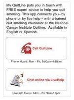 MY Quitline for iPhone help to quit smoking