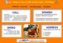 Hearing impaired Relay IM Service updated to real time by AT&T
