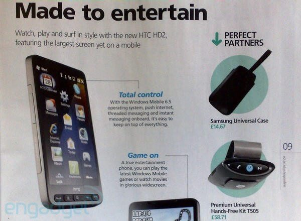 O2 UK Catalogue shows up HTC HD2 aka Leo