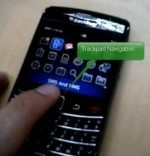Video showing BlackBerry 9700 aka Onyx featuring trackpad