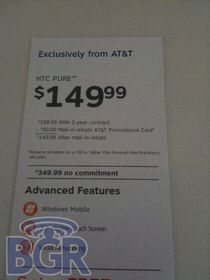 AT&T bound Tilt2, Pure, and nuvifone G60 get priced