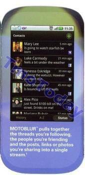 Motorola CLIQ Promo material shown