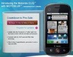 Motorola CLIQ up for pre-order on T-Mobile USA