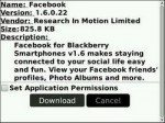 Facebook 1.6.0.22 released and compatible with OS 5.0