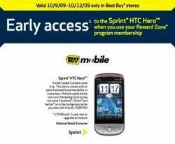 Sprint HTC Hero Best Buy availability to Reward Zone members