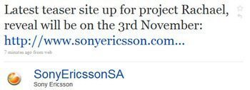 Sony Ericsson Rachael to be officially announced on Nov 3rd
