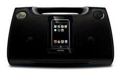 Philips DC185/37B Black Sound Machine w/iPod Dock, Refurbished