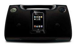Philips DC185/37B Refurbished Black Sound Machine w/iPod/iPhone Dock