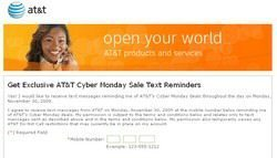 AT&T Cyber Monday 2009 deals direct to your cell phone