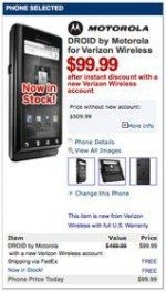 Motorola Droid for $99.99 from Wirefly