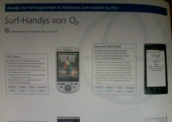 Droid comes to Europe on O2 as MILESTONE