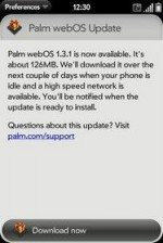 WebOS 1.3.1 update is Available right now