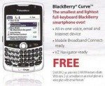 Free BlackBerry Curve running Palm OS offered by Verizon ad?
