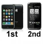 iPhone 3GS Number 1, Verizon Touch Pro2 Number 2