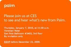 CES 2010 Invitation from Palm