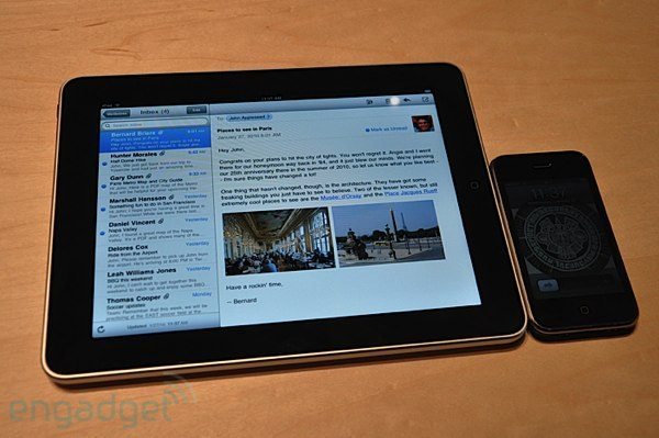 Apple iPhone vs. new iPad side-by-side battle