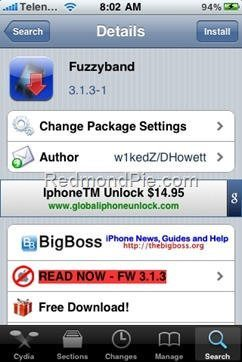 Got iPhone 3G on OS 3.1.3 then get Fuzzyband