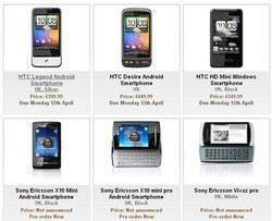 MWC 2010 Smartphones for pre-order from eXpansys already