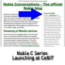 CeBIT 2010 to see Launch of Nokia C Series?