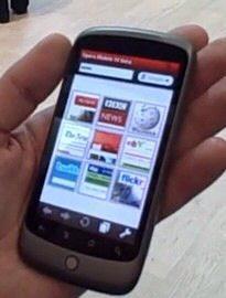 MWC 2010 Video: Nexus One running Opera Mobile