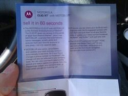 T-Mobile Pamphlet to Sell Cliq XT in 60 Seconds
