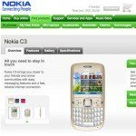 Nokia C3 Release Date and Own Site Page