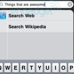 iPhone OS 4.0 Spotlight Web and Wikipedia Search