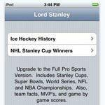 Stanley Cup Winners iPhone App
