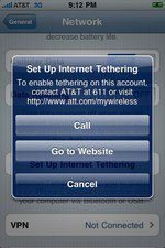 iPhone OS 4.0 Beta 4 Tethering on AT&T Option Included