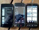 HTC Desire vs. Nokia N900 vs N97 Browser and Gaming Comparison Video