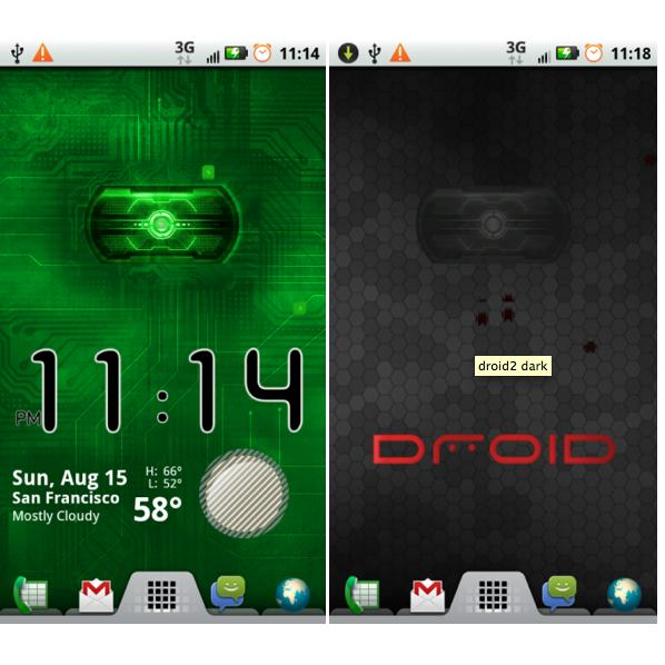 HTC Droid 2 Red Eye Live Wallpapers (D2EyeMod): Download