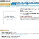 HTC Desire HD Shown on Amazon UK with Price
