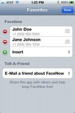 Apple iPhone 4 FaceTime Made Easier With FaceNow App