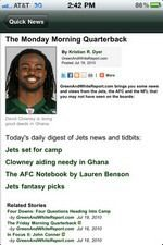 NY Jets 2010 News and Rumors iPhone App